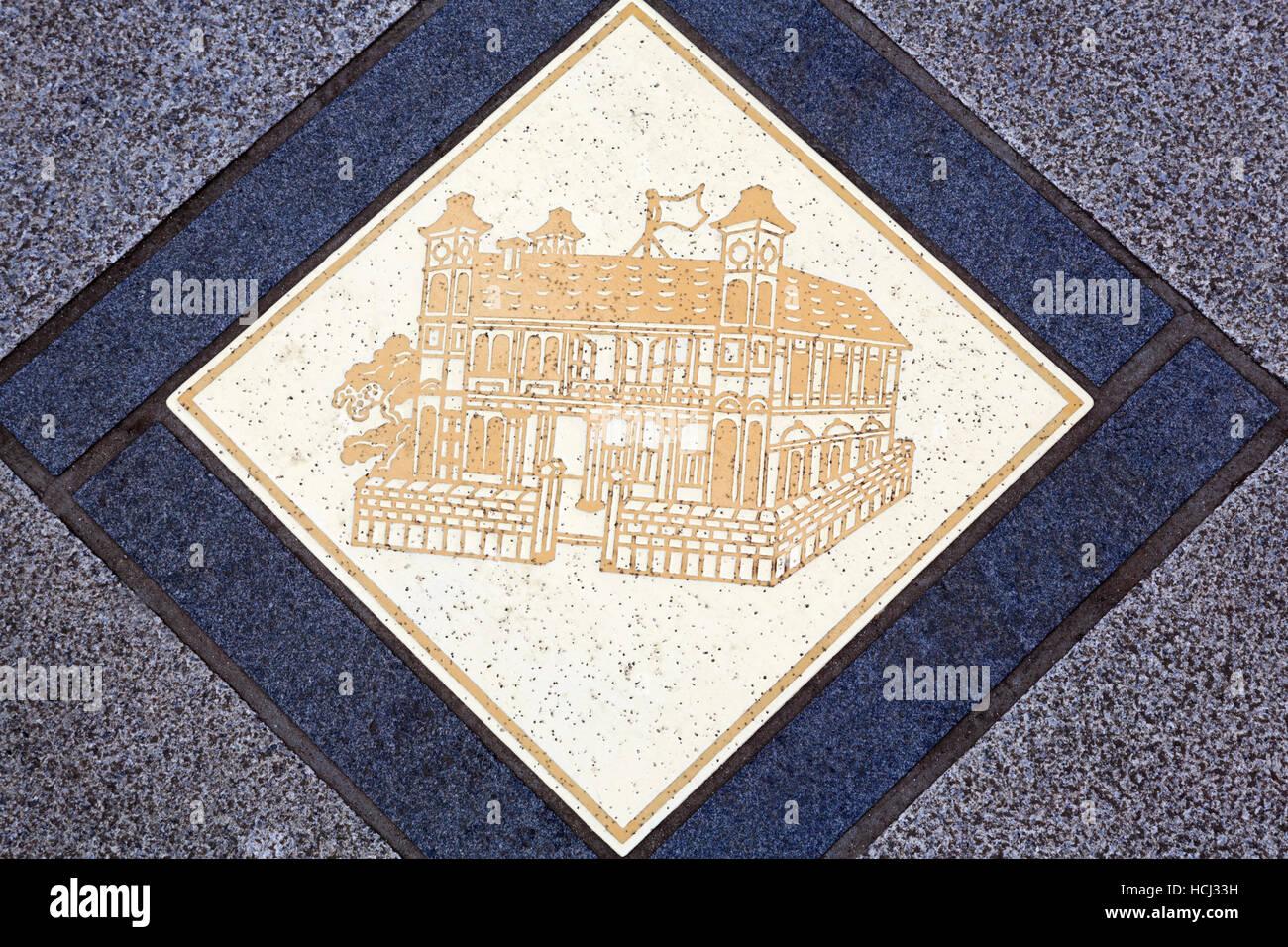 Tile, Yokohama, Honshu Island, Japan, Asia - Stock Image