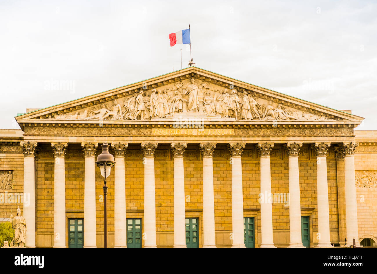 assemblée nationale, national assembly, outside view - Stock Image