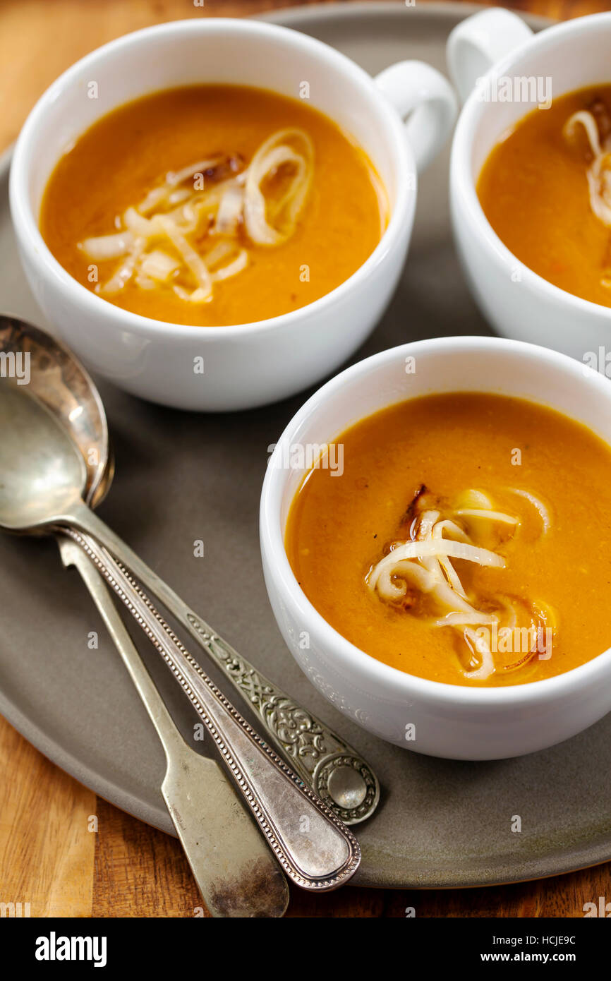 Pumpkin soup - Stock Image