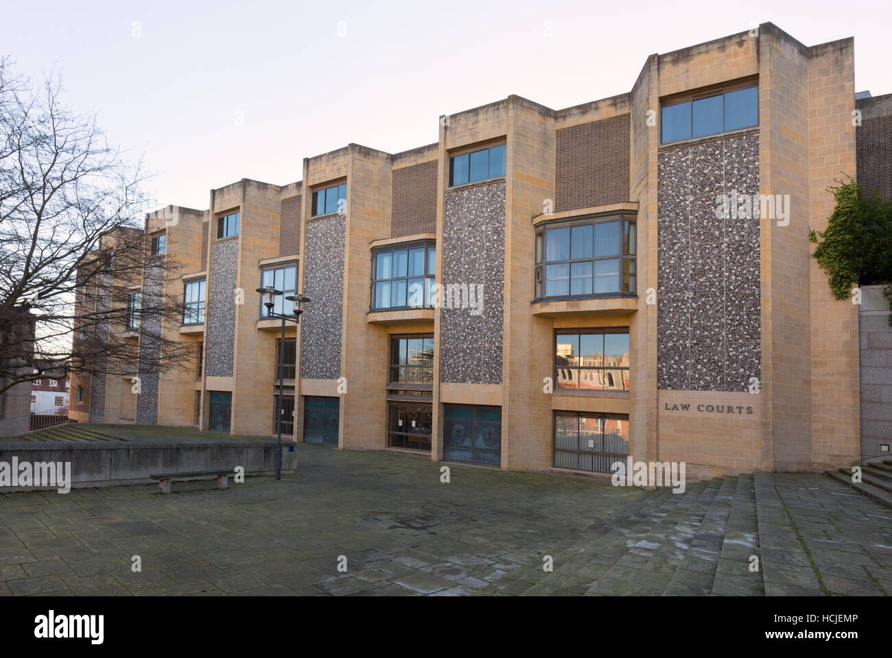 Winchester Crown Court  Law Courts,  Hampshire UK - Stock Image