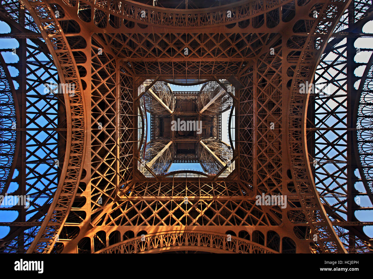 Under the Eiffel Tower, Paris, France - Stock Image