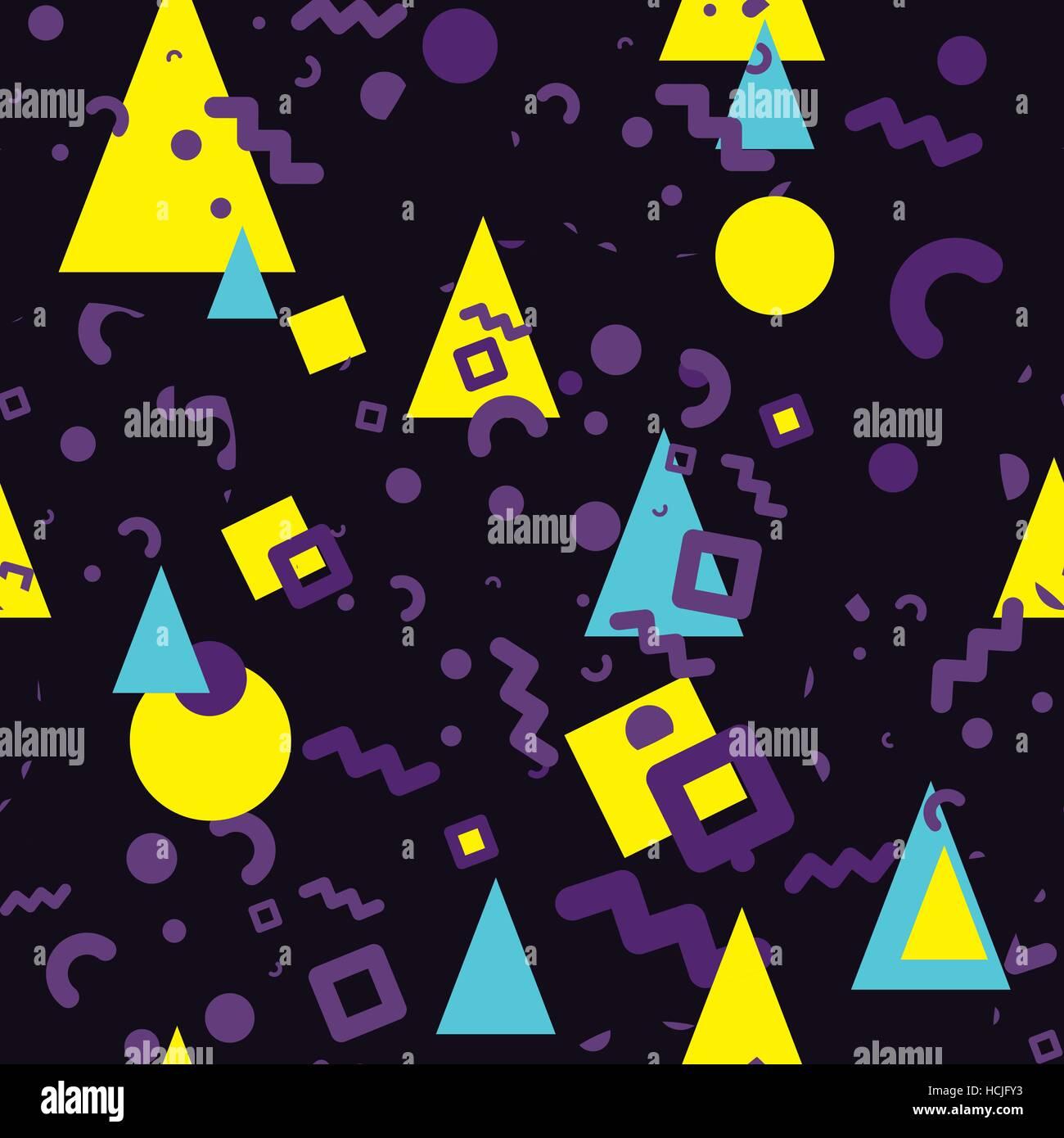 Seamless pattern Memphis style - Stock Image