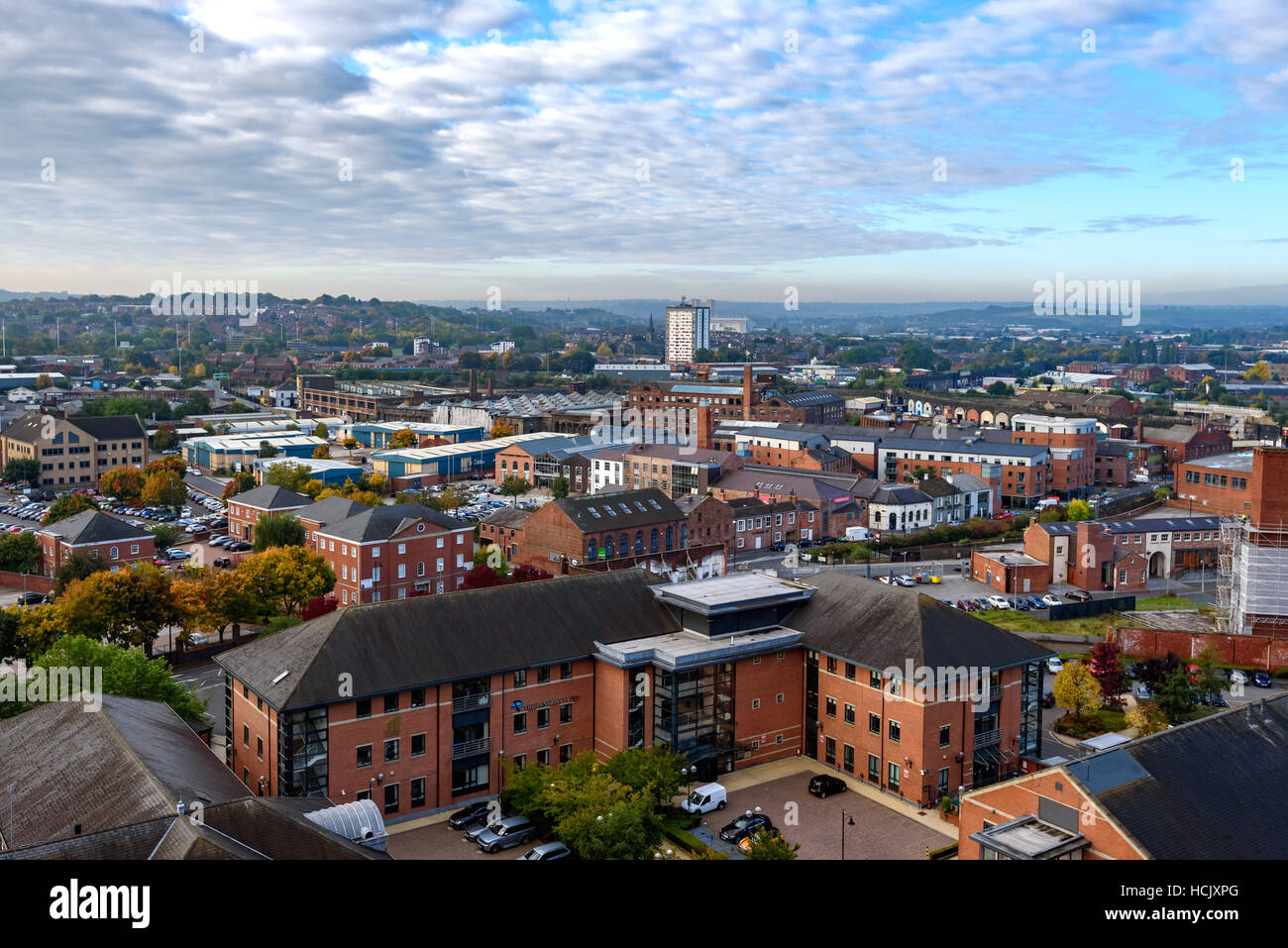Panoramic views of Leeds apartments and the surrounding area. - Stock Image
