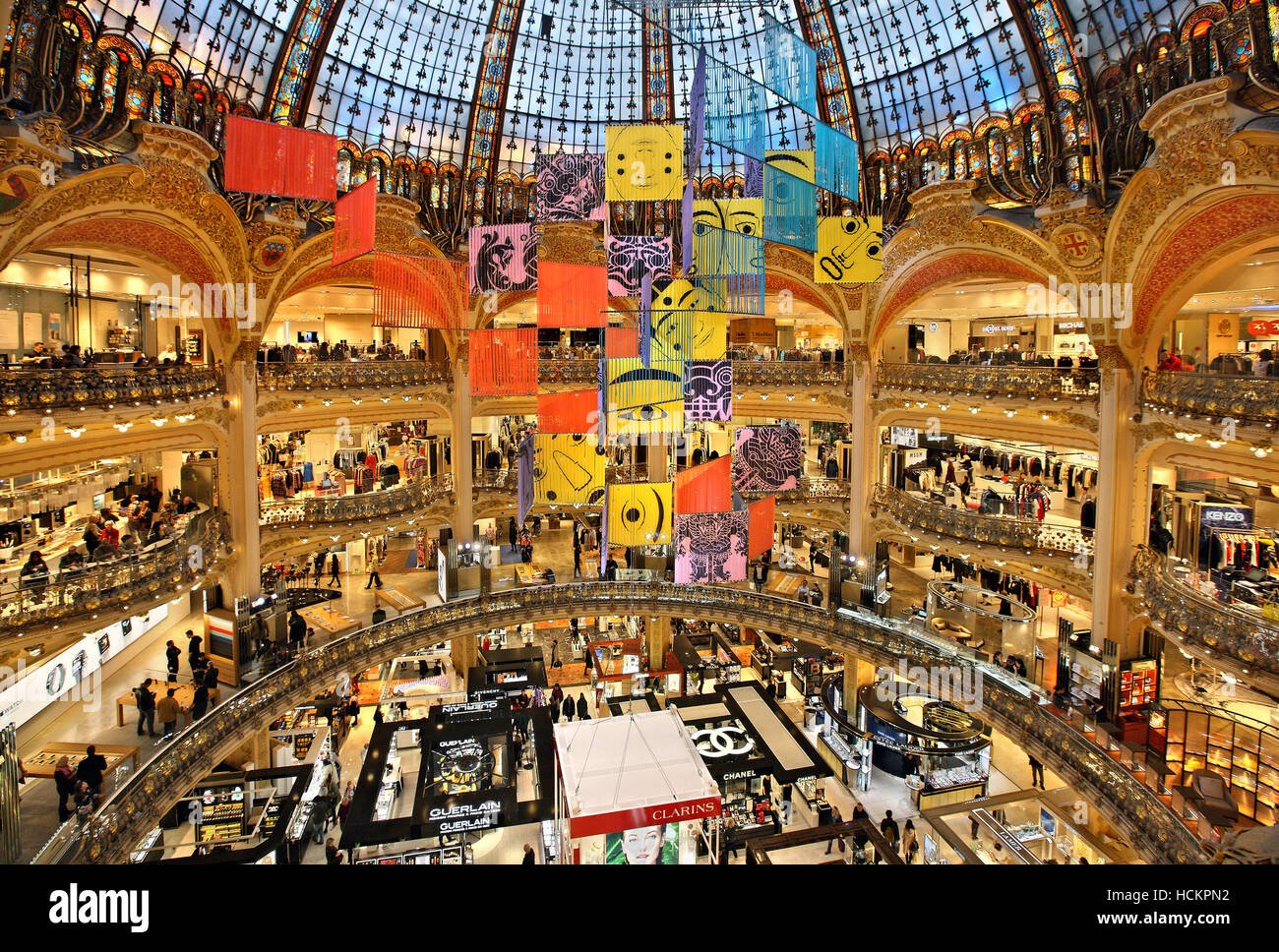 the galeries lafayette the most famous parisienne shopping center