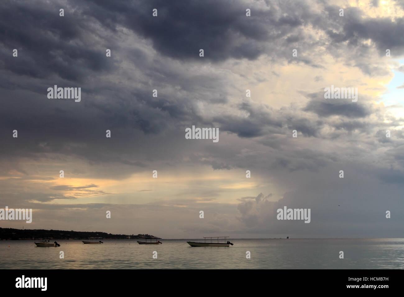 Caribbean beach on Jamaica Island - Stock Image