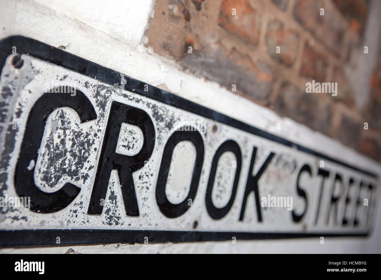 Crook street, signs, in the retail sector of the City of Chester, Cheshire, UK - Stock Image