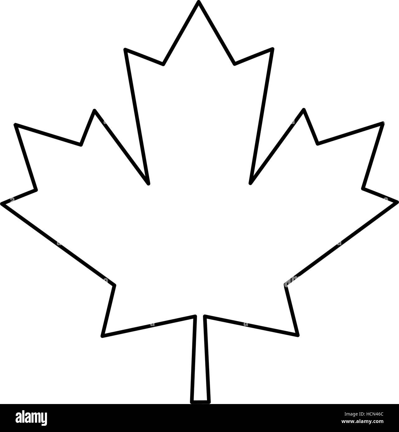 Maple Leaf Green Sign Canadian Outline Stock Vector Art