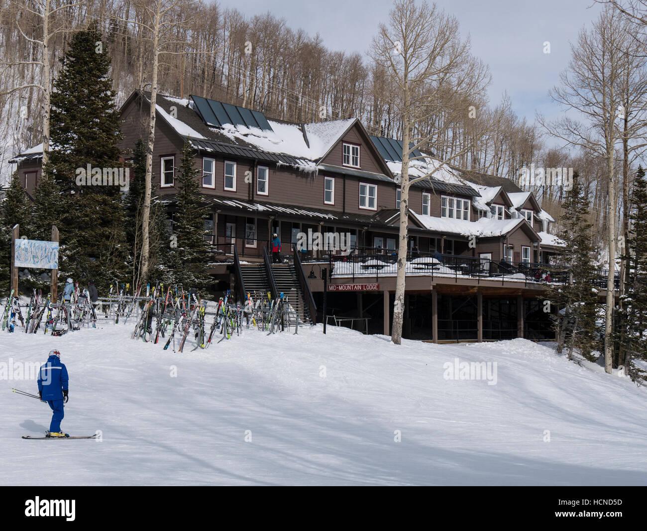 Mid-Mountain Lodge, Park City Mountain Resort, Park City, Utah. - Stock Image