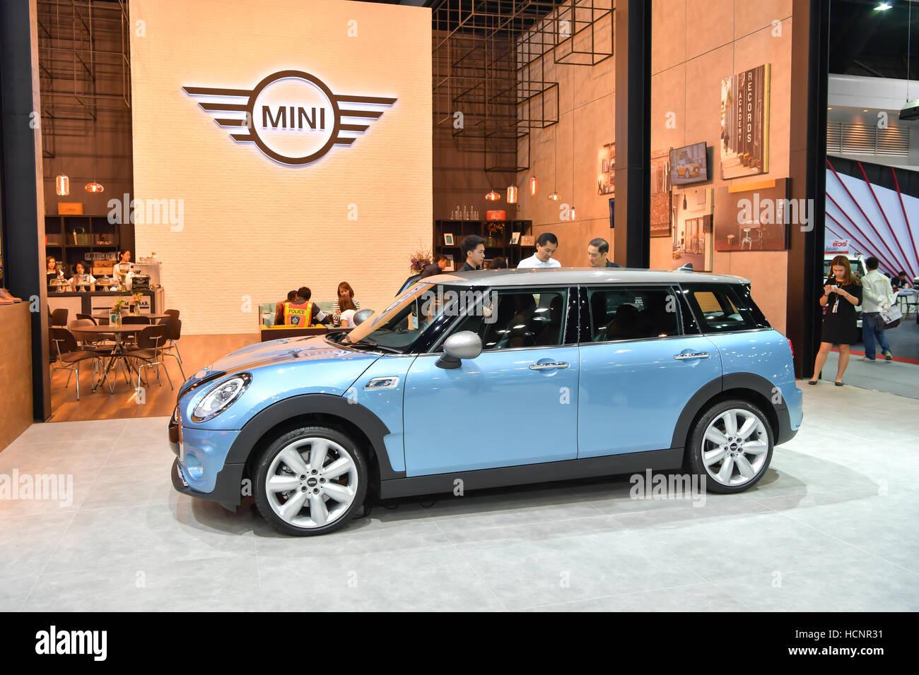 Nonthaburi December 8 Mini Cooper Club Man Car On Display At