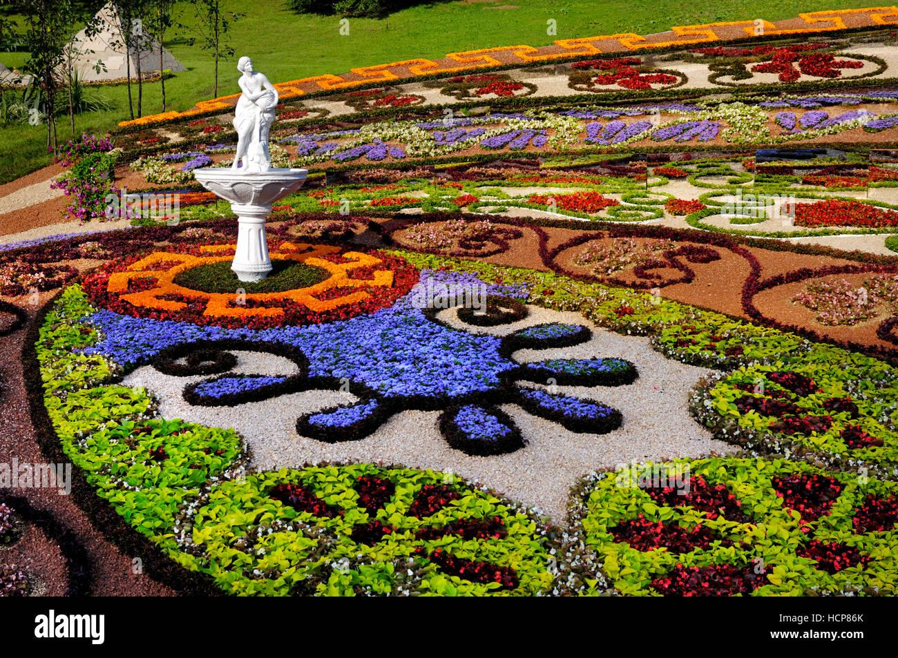 Charmant Artistic Landscape Gardening, Colorful Pattern Made Of Flowers, Kiev,  Ukraine   Stock Image