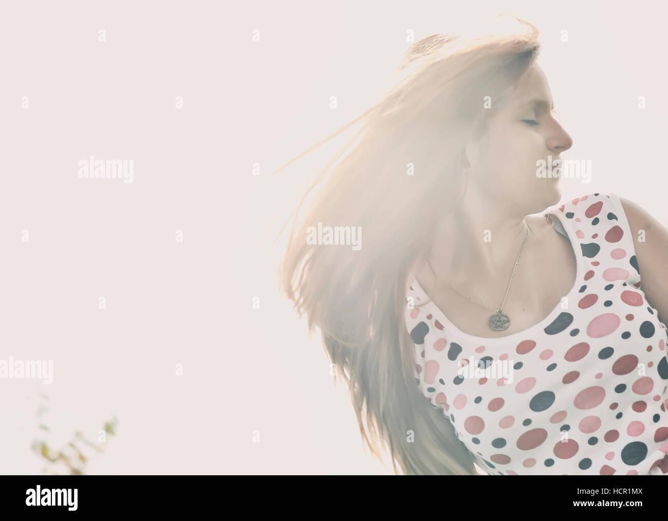 Beautiful girl portrait - Stock Image