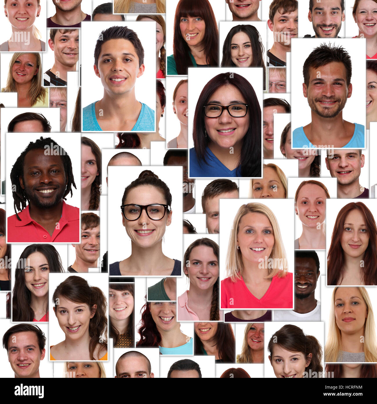 happy faces multiracial not business stock photos happy faces