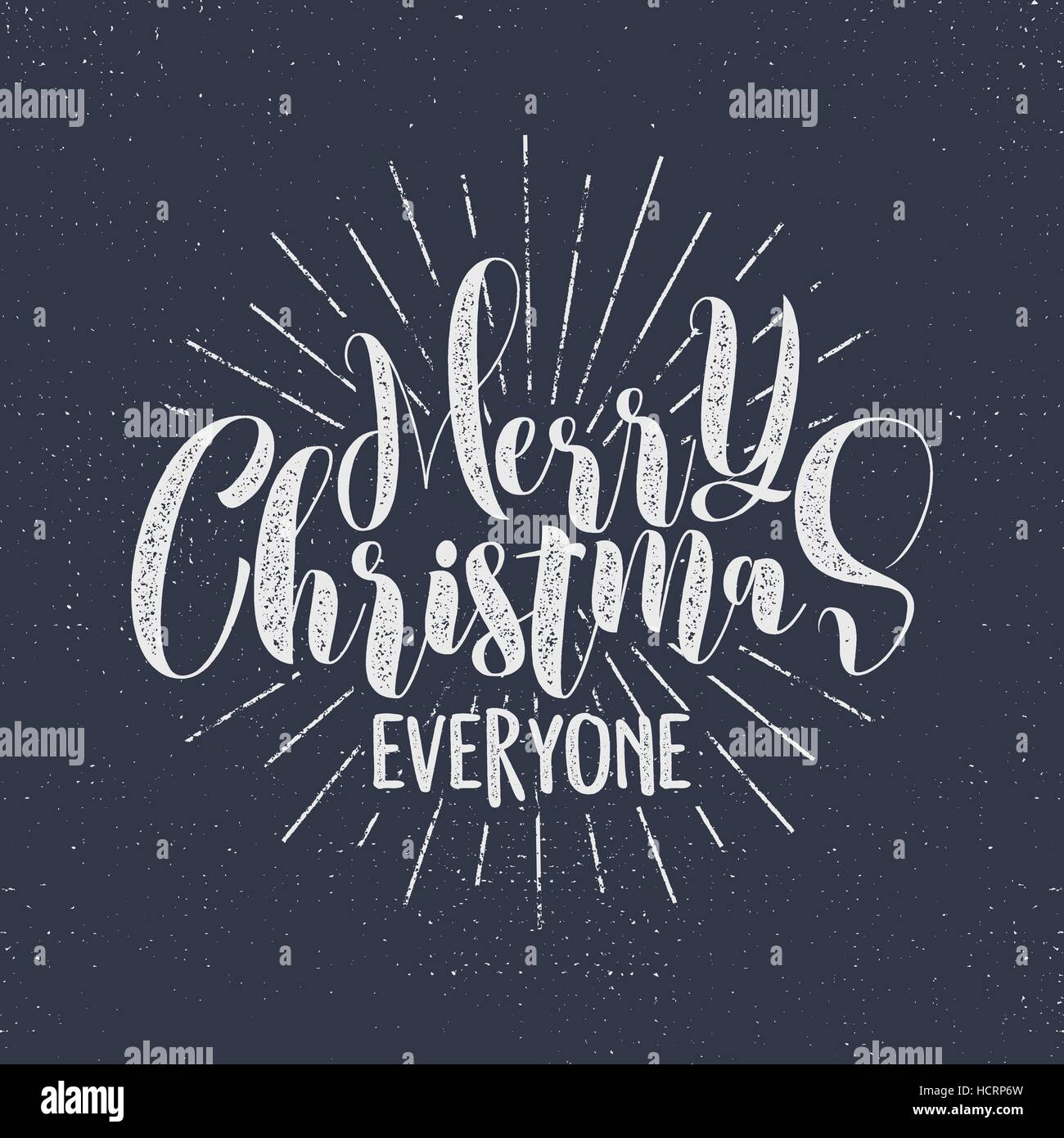 Merry Christmas everyone lettering, holiday wishe, sayings and Stock ...
