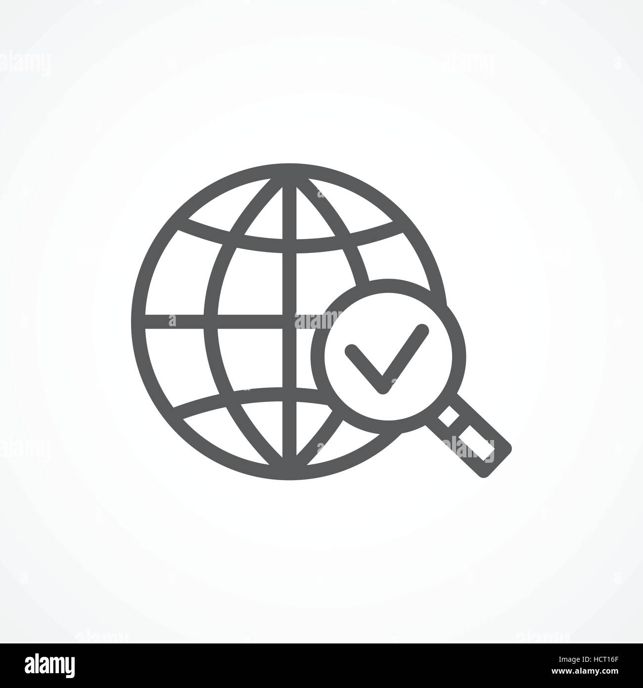 Global research icon - Stock Vector