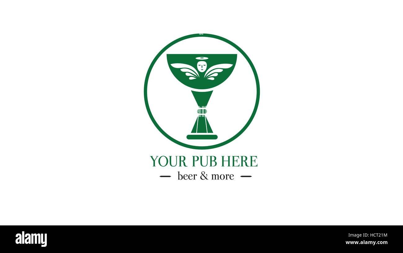 Beer vector logo. Brewery logo. Beer fest emblem - Stock Image