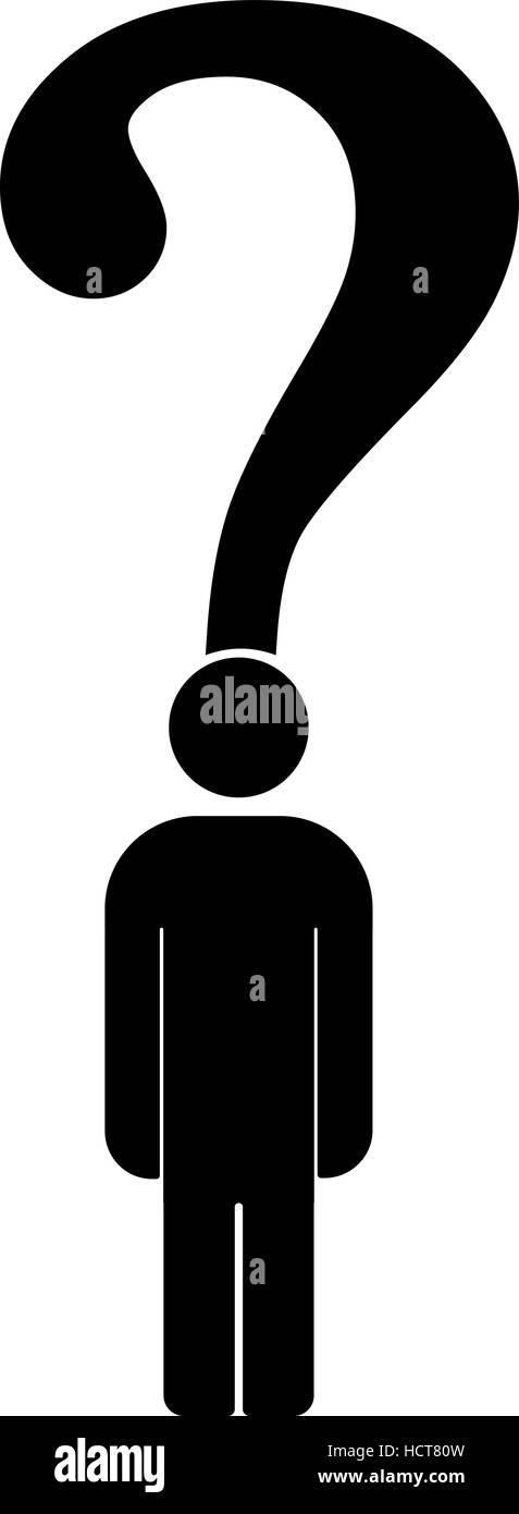 Question mark concept illustration symbol. Problem solution creative - Stock Image