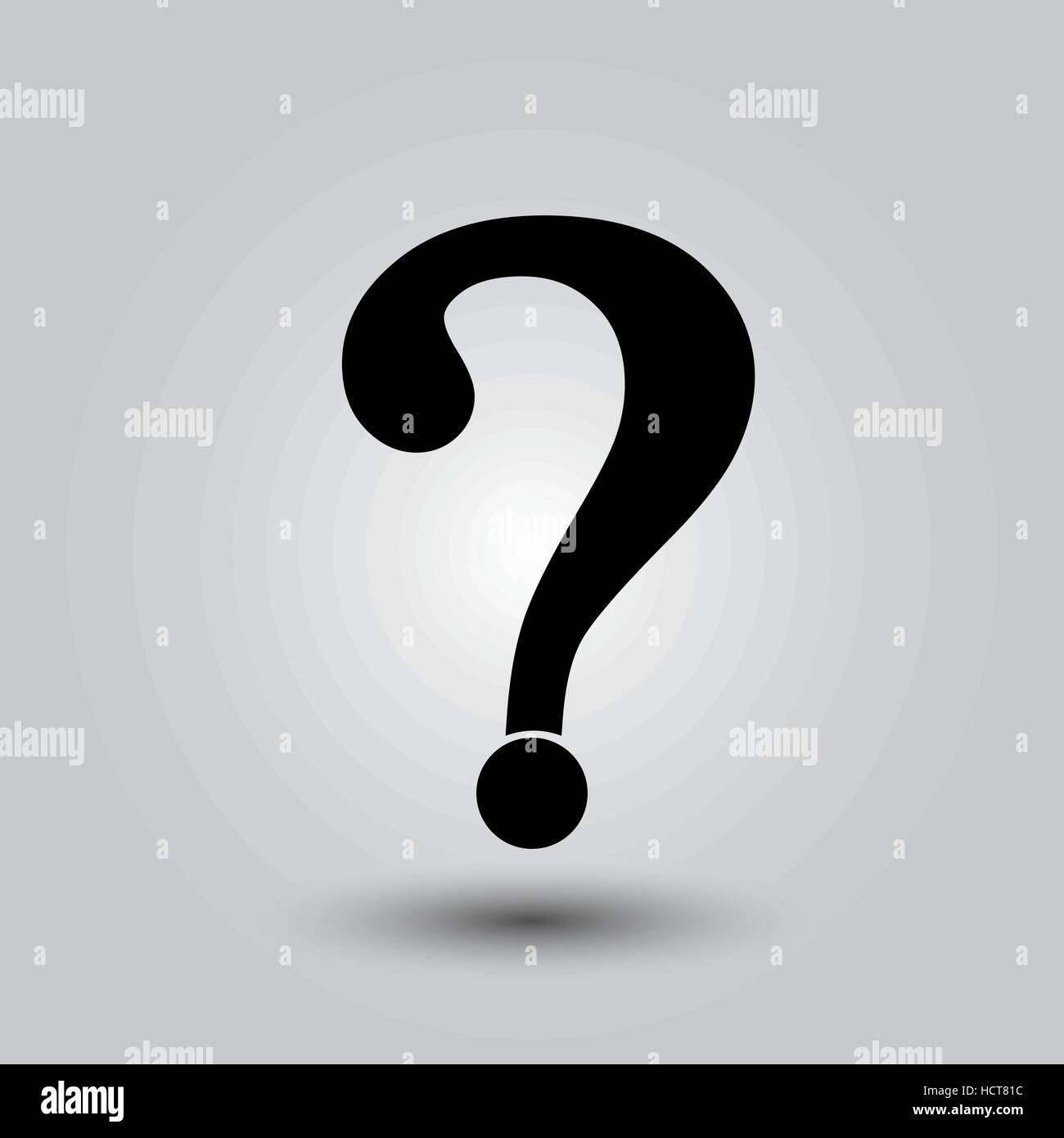 Question mark sign icon, vector illustration. Flat design style - Stock Image