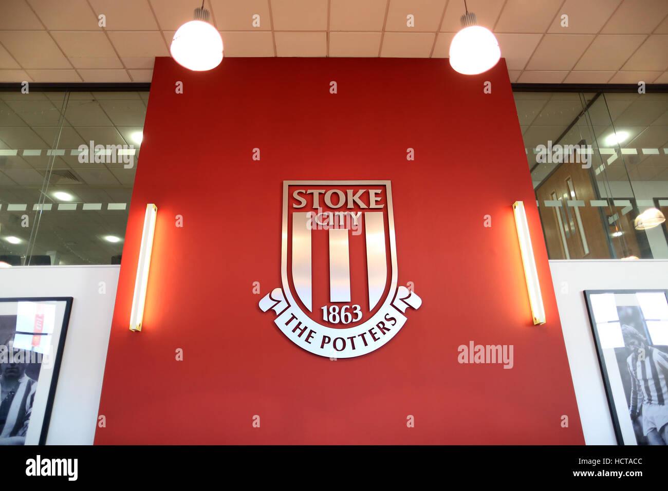 Reception area - Bet 365 Stadium - home to Stoke City FC - Stock Image