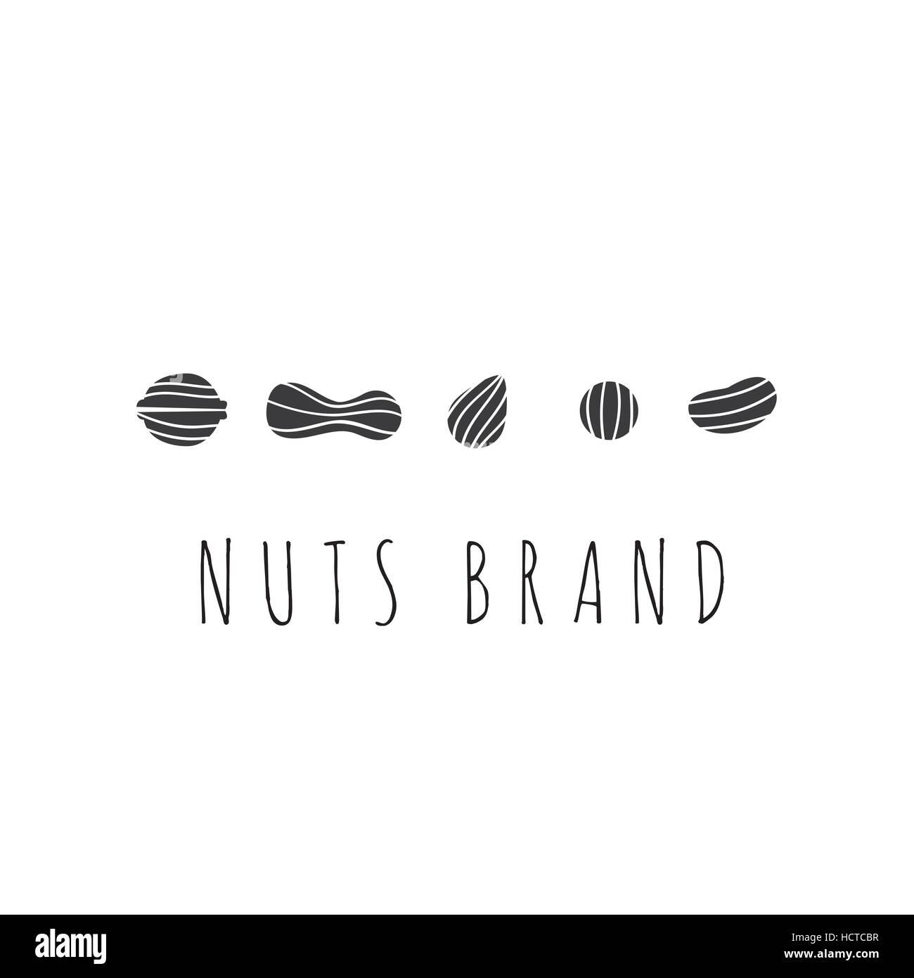 Nuts vector emblem - Stock Image