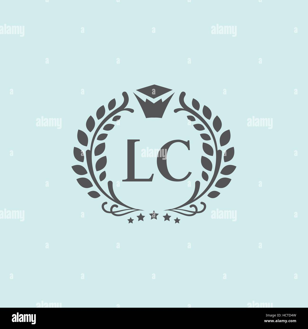 L, C letters vector business logo (sign, symbol, monogram, icon). Luxury brand identity for hotel, restaurant, boutique Stock Vector