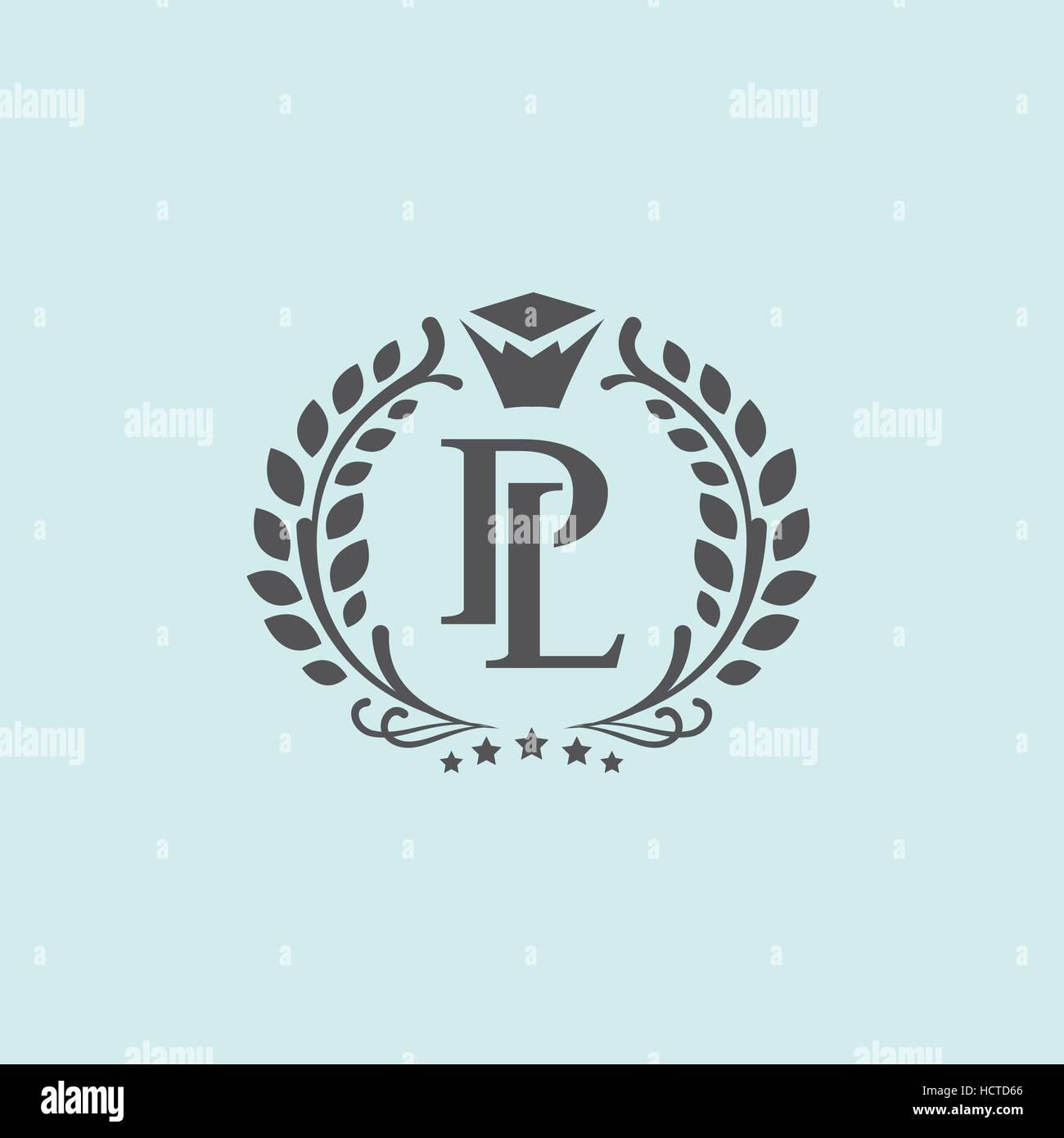 P Lpl Letters Vector Business Logo Sign Symbol Monogram Icon
