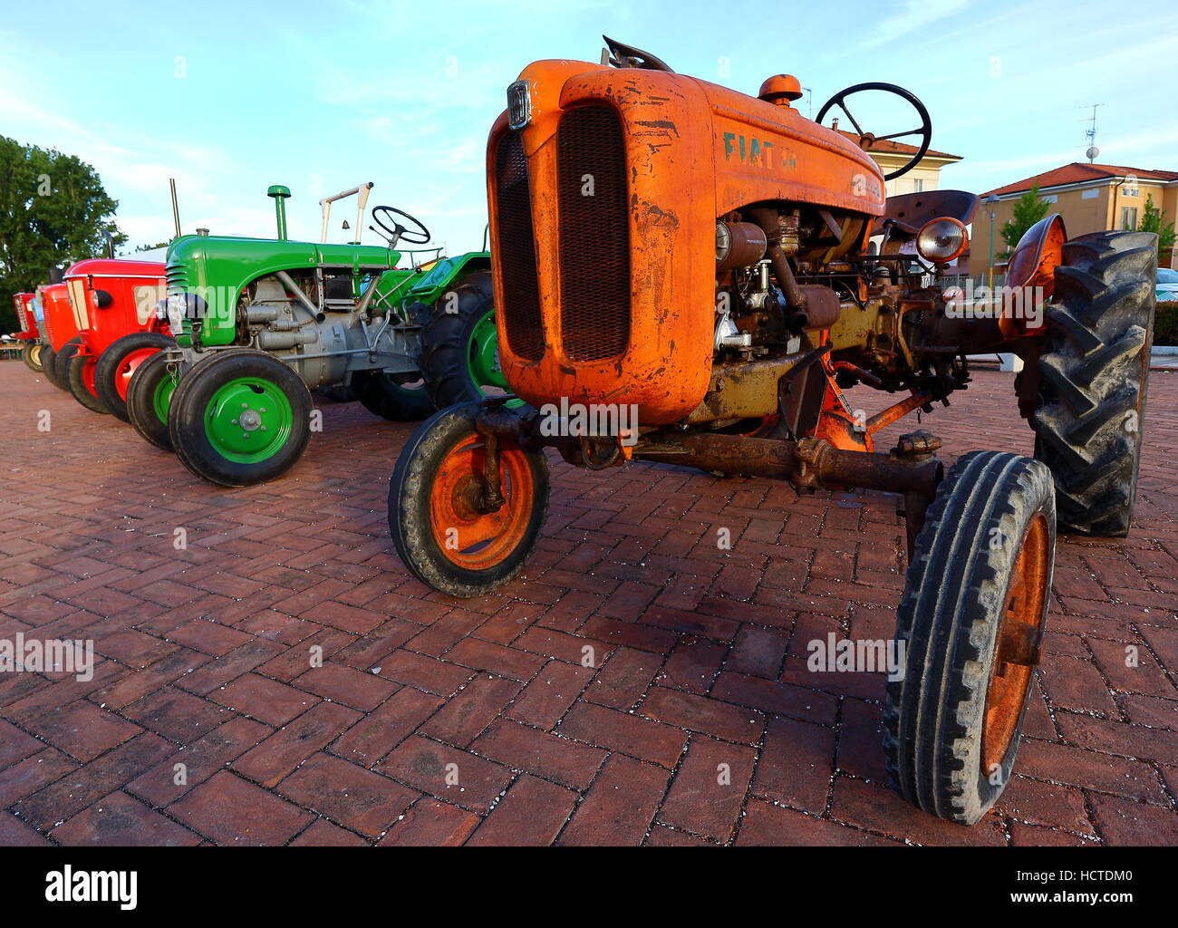 Vintage tractor show - Stock Image