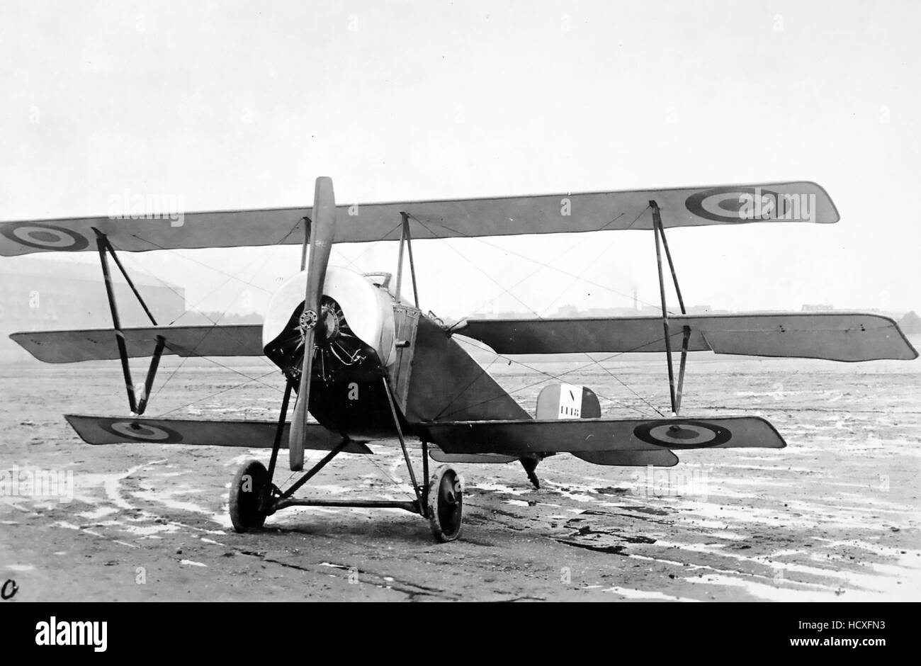 NIEUPORT 10 TRIPLANE  French First World War aircraft - Stock Image
