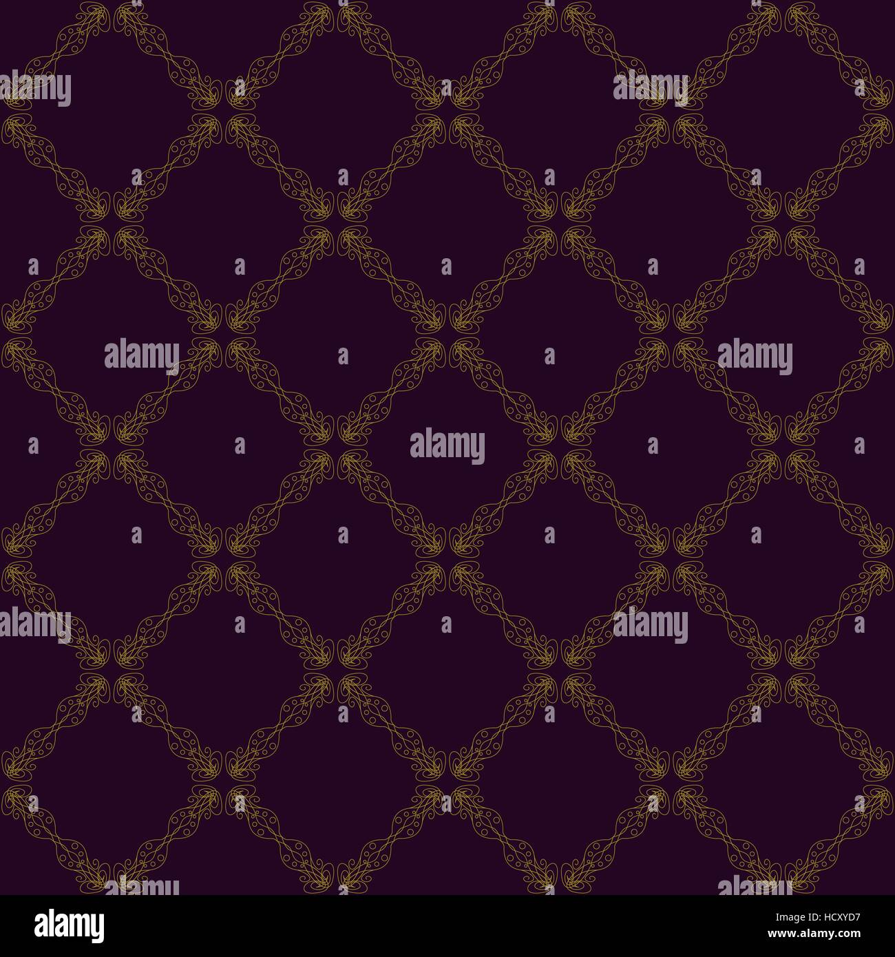 Seamless abstract vintage purple pattern - Stock Image