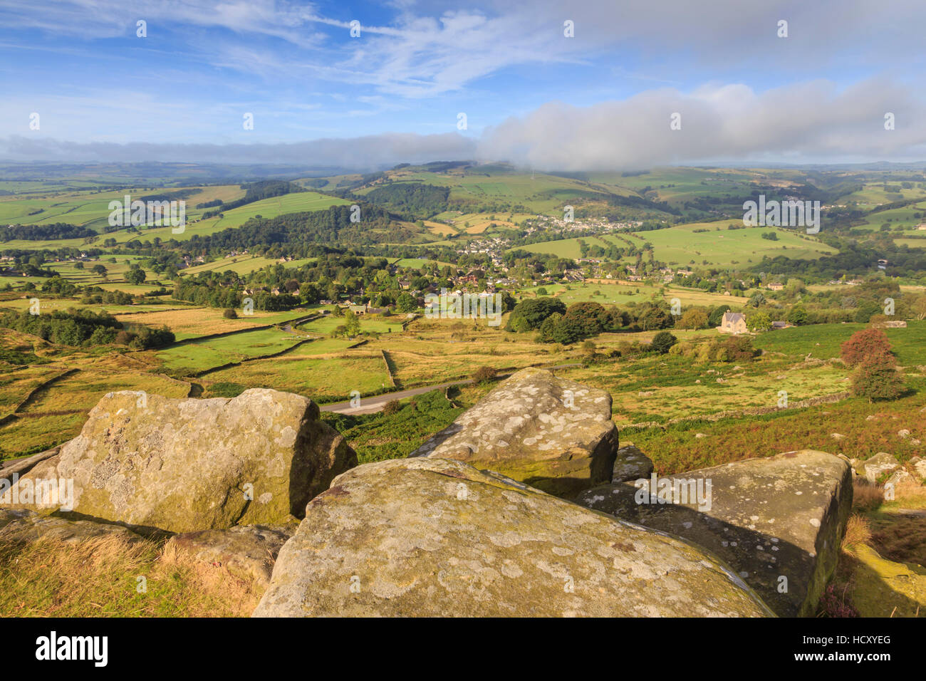 Curbar Edge, early autumn, Peak District National Park, Derbyshire, UK - Stock Image