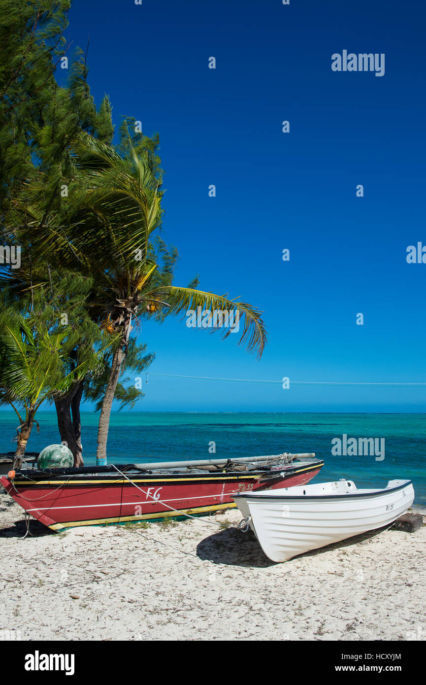 Little fishing boats, Providenciales, Turks and Caicos, Caribbean - Stock Image