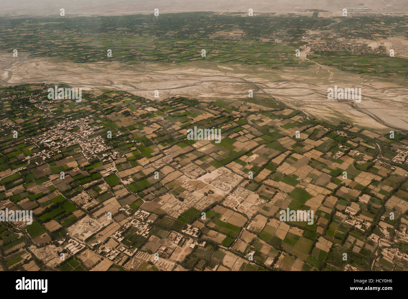 Afghanistan landscape from the Herat-Kabul flight, Afghanistan - Stock Image