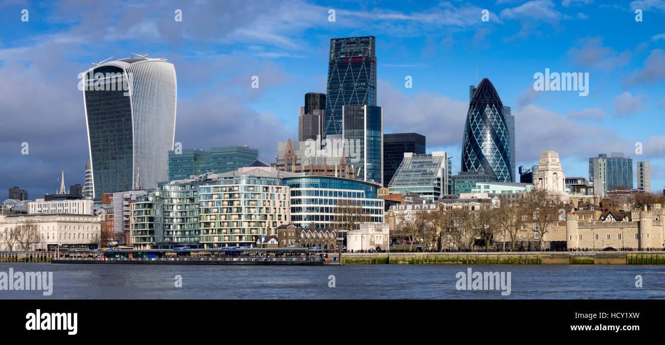 City of London Square Mile panorama, London, UK - Stock Image