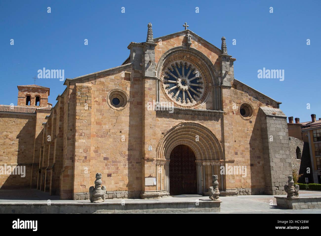 Church of San Pedro, Avila, UNESCO, Castile and Leon, Spain - Stock Image