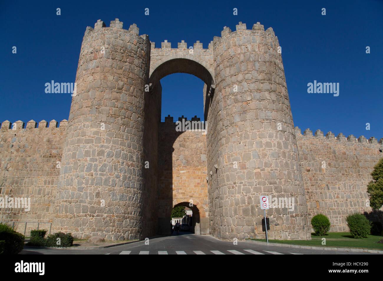 Puerta de Mariscal, Avila, UNESCO, Castile and Leon, Spain - Stock Image