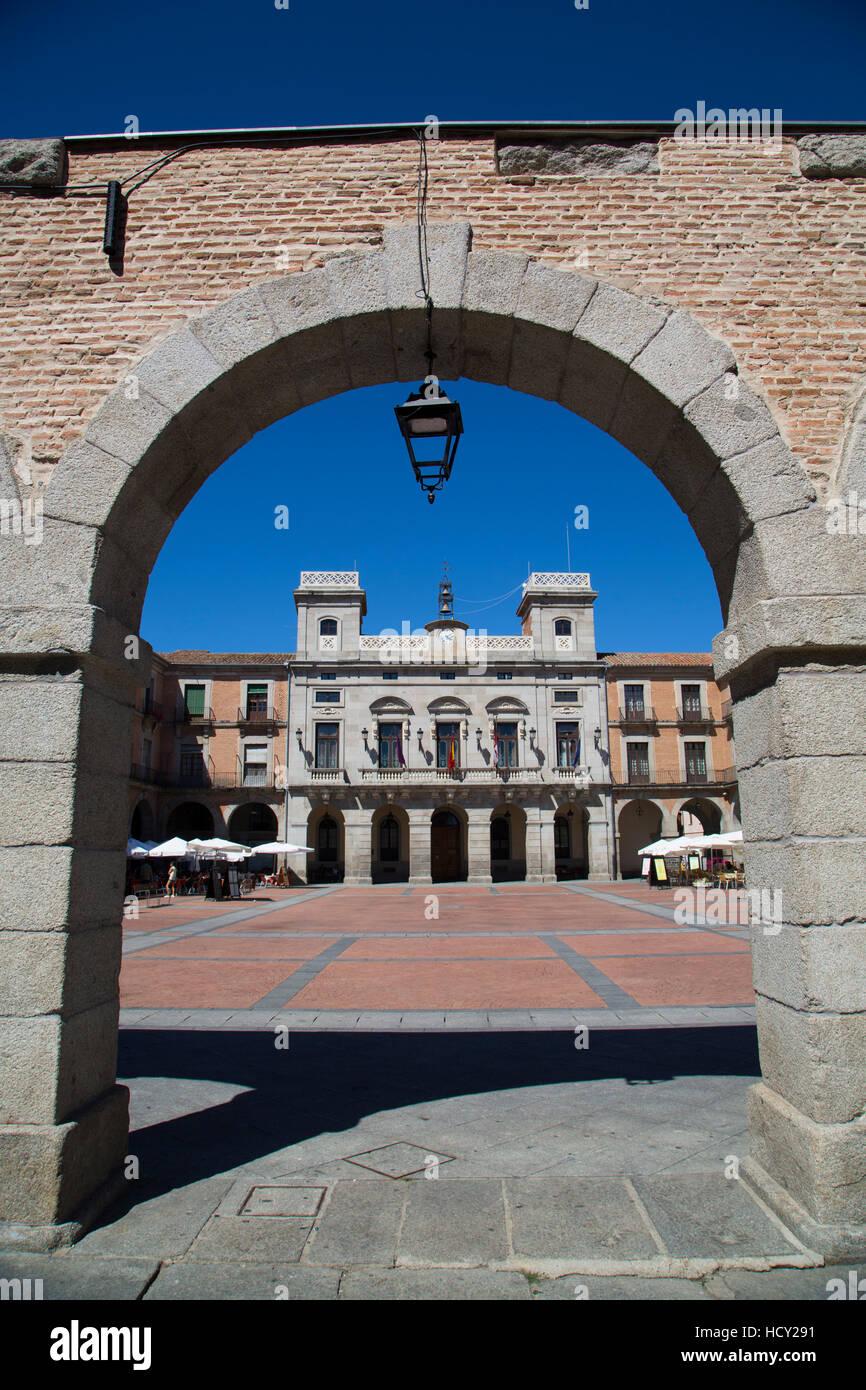Plaza del Mercado Chico, Avila, UNESCO, Castile and Leon, Spain - Stock Image