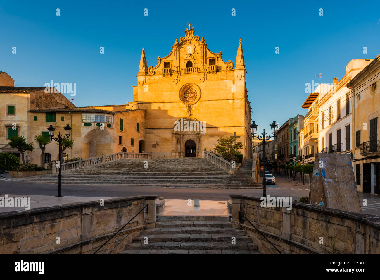 Church in Felanitx Mallorca - Stock Image