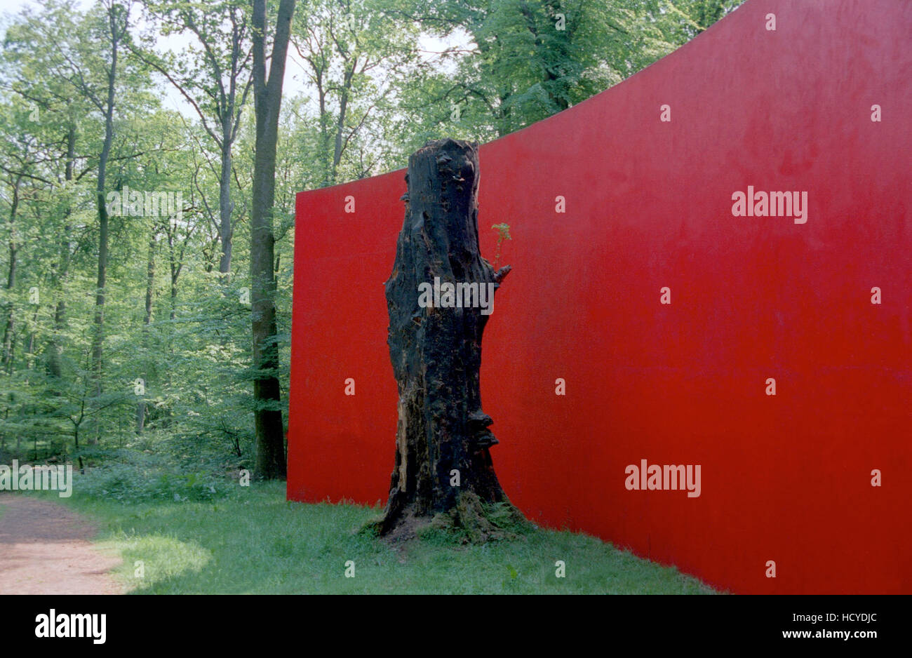 VANÅS CASTLE art installation in the nature - Stock Image