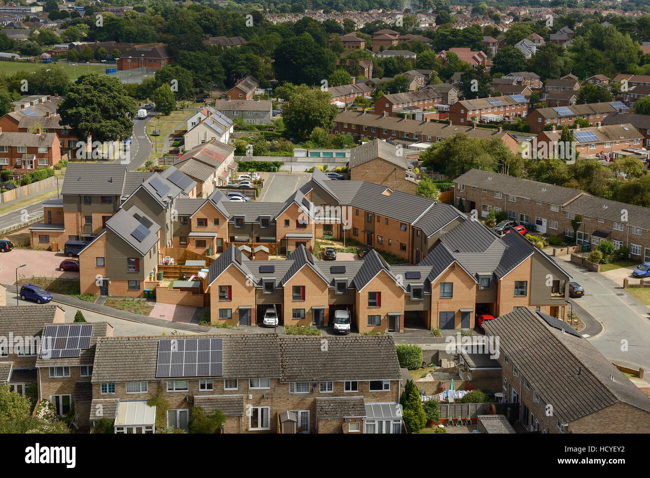 New build social housing on the outskirts of Southampton UK - Stock Image