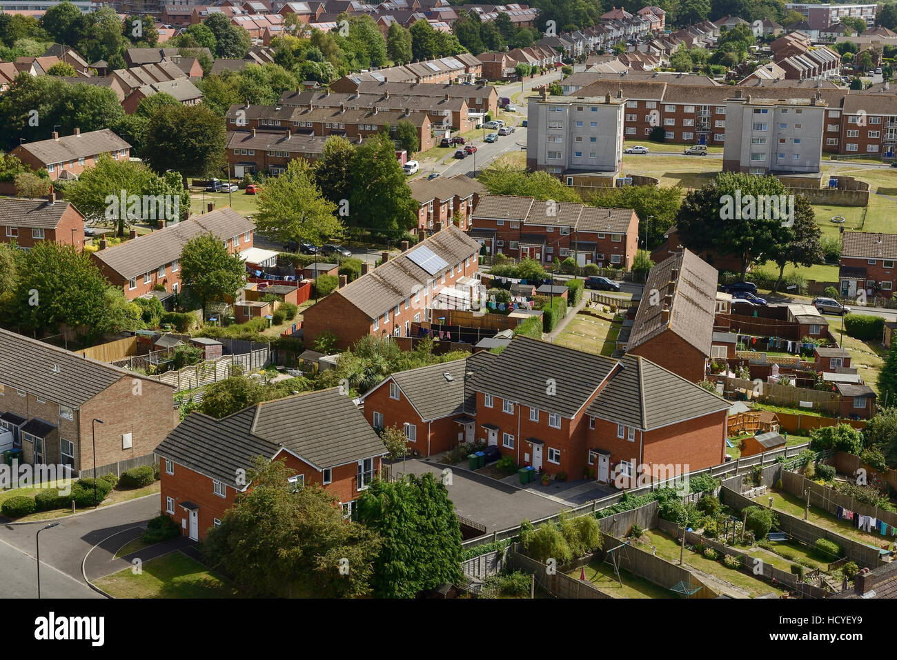 Social housing on the outskirts of Southampton UK - Stock Image