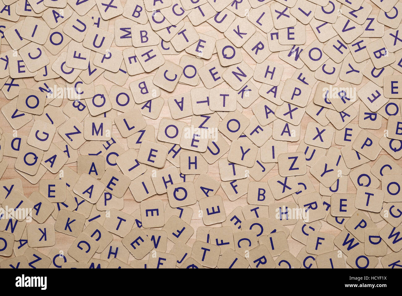 Abstract pattern of card alphabet letters - Stock Image