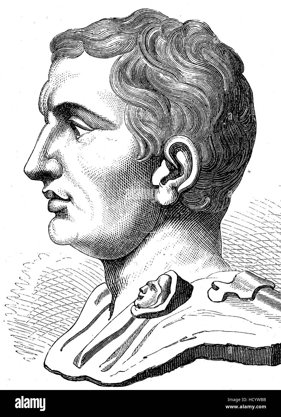 Gnaeus Pompeius Magnus, 106 BC - 48 BC, Pompey, Pompey the Great, a military and political leader of the late Roman - Stock Image