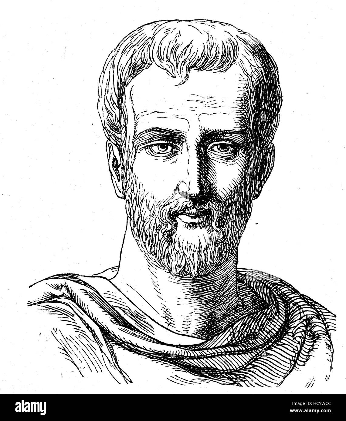 Titus Maccius Plautus, 254 BC - 184 BC, Plautus, a Roman playwright of the Old Latin period, the story of the ancient - Stock Image