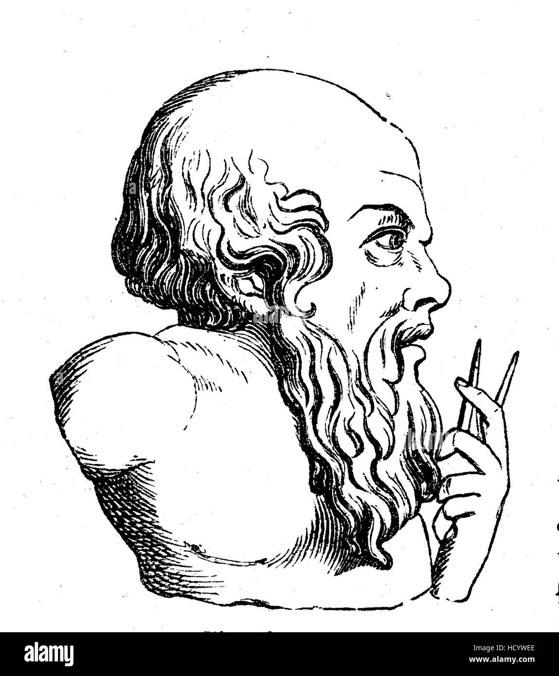 Archimedes of Syracuse, 287 BC - 212 BC, Ancient Greek mathematician, physicist, engineer, inventor, and astronomer., - Stock Image