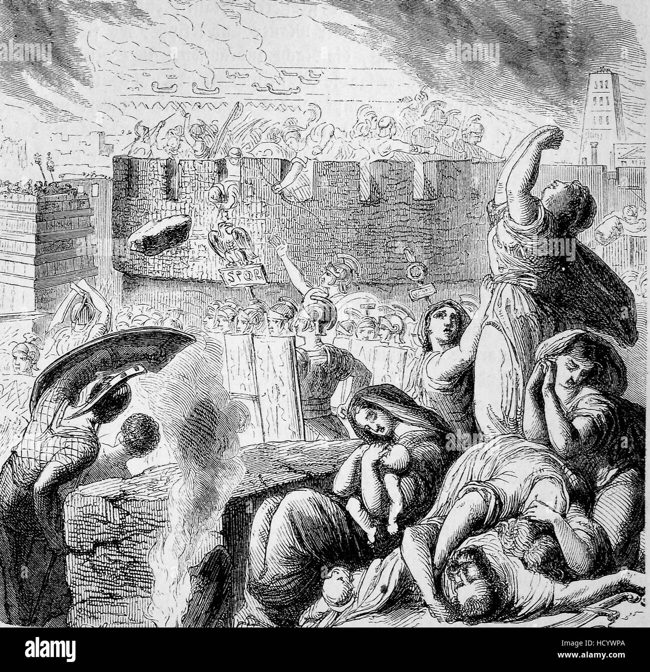 The Third Punic War, 149 BC -146 BC, destruction of Carthage, the story of the ancient Rome, roman Empire, Italy - Stock Image