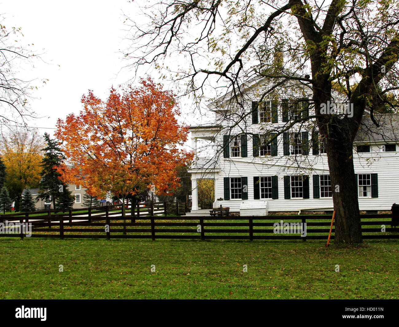 Wade House Historic Site in Greenbush WI. former stage coach hotel and stop open to the public for tours. - Stock Image