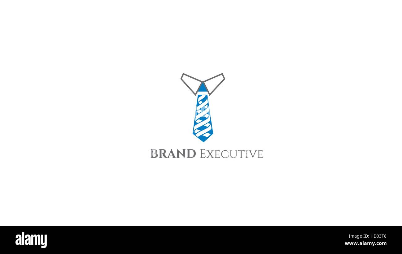 neck tie vector logo design template executive brand identity stock