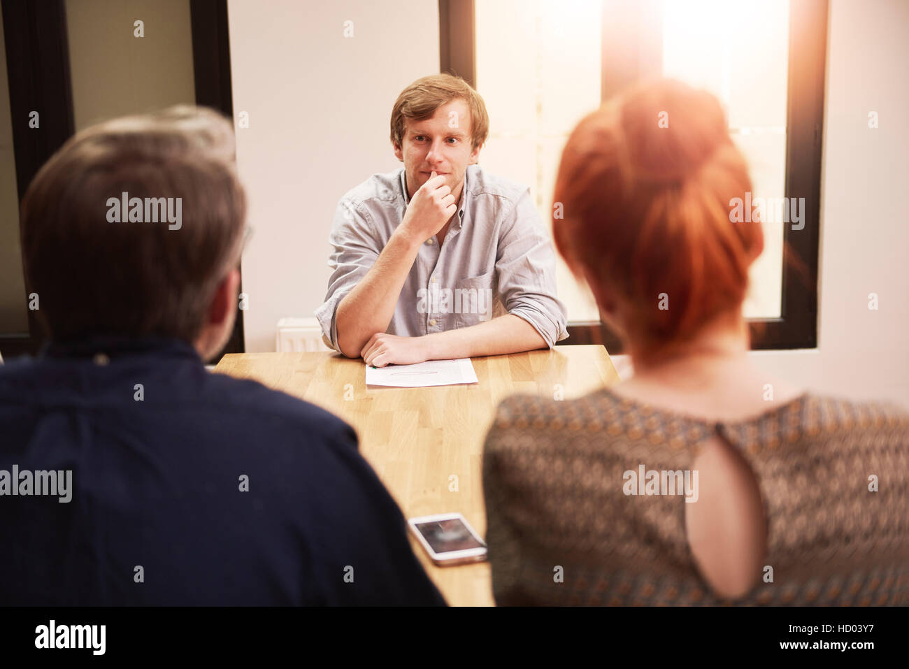 Important meeting with business people - Stock Image