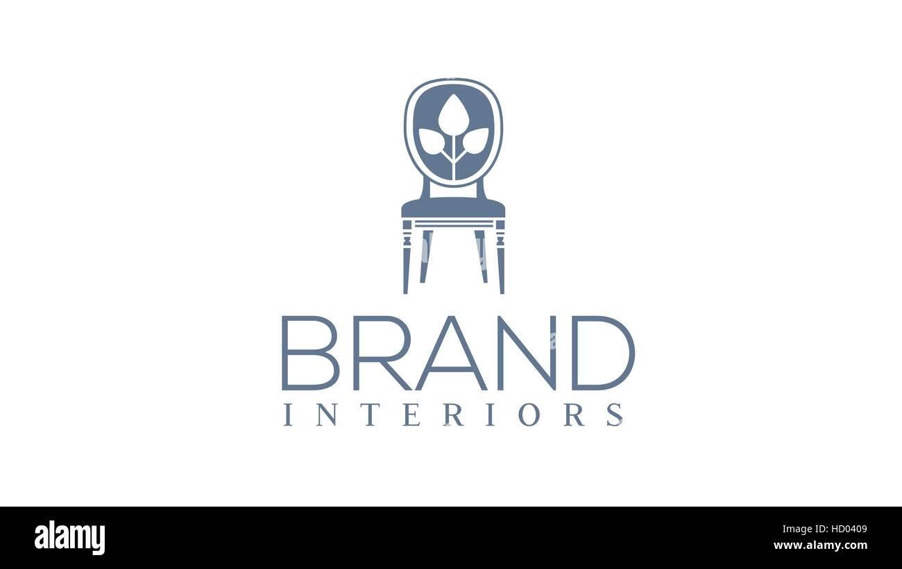 Vector furniture or chair logo design template. Interior design ...