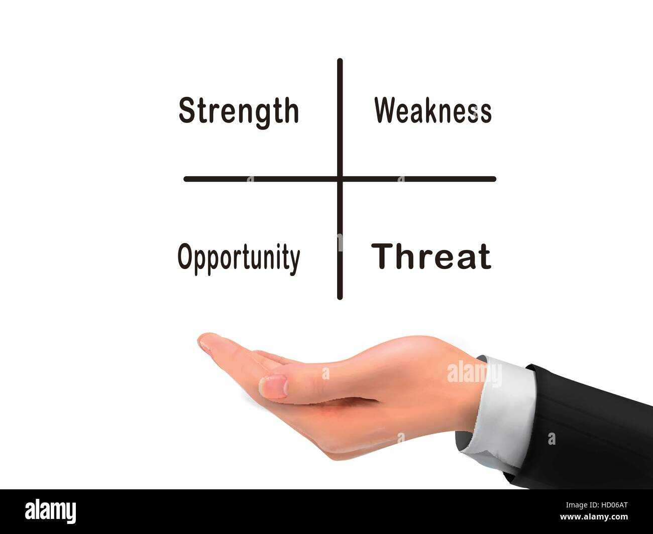 Swot analysis diagram holding by realistic hand over white swot analysis diagram holding by realistic hand over white background ccuart Choice Image