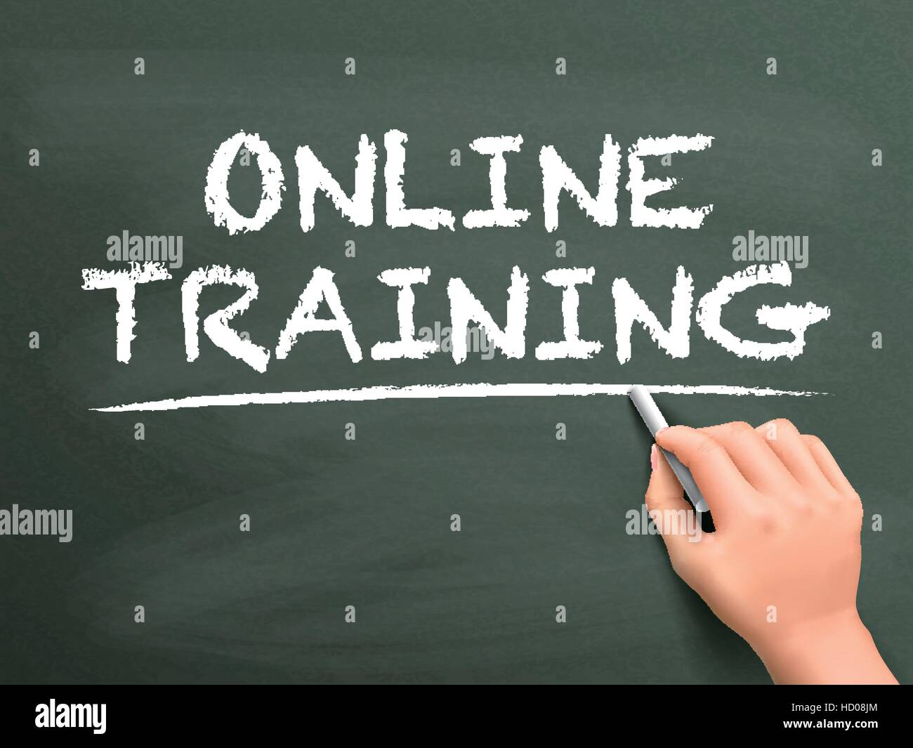 Online Learning Written Hand 3d Stock Photos & Online Learning